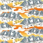 Norrland Orange Veckad gardinkappa