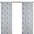 Mosaik Blå Panelgardin