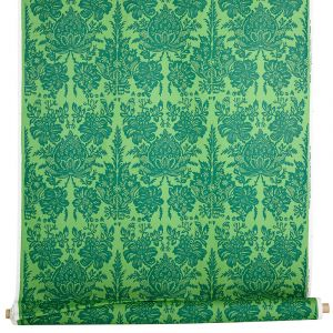 Granatäpple Grön Tyg