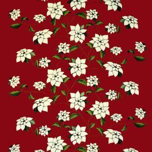 Julstjärna Röd Gardinlängd