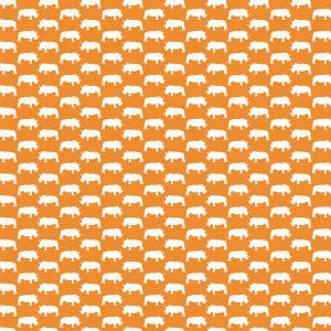 Noshörning Orange Gardinlängd