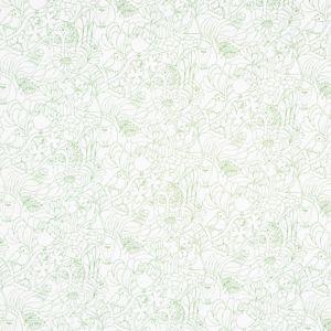 Twitters Vit/Grön Slät gardinkappa