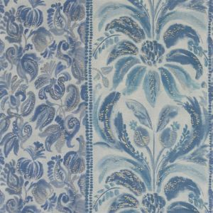Angelique Damask Indigo Tyg