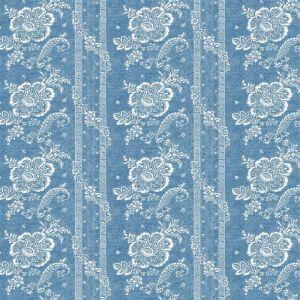 Batik Florette Vintage Blue Tyg