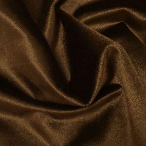 Roma Sammet Chokladbrun Tyg
