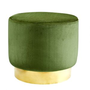 Sittpuff Roma Sammet Khaki Grön