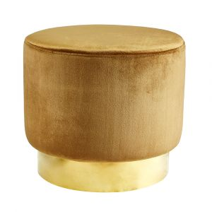 Sittpuff Roma Sammet Guld