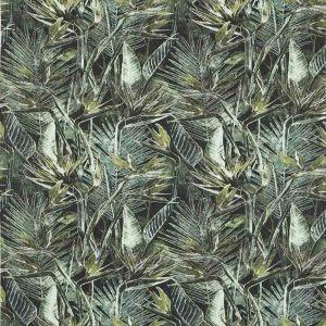 Strelitzia Grön Tyg