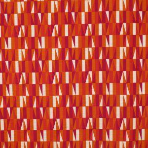Prisma Röd/Vit/Orange Gardinlängd