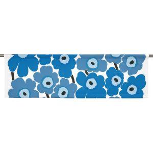 Pieni Unikko Blå Slät gardinkappa