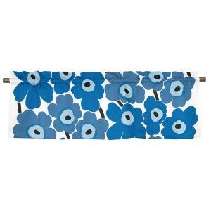 Pieni Unikko Blå Veckad gardinkappa