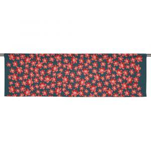 Anemone mini grå/röd Slät gardinkappa