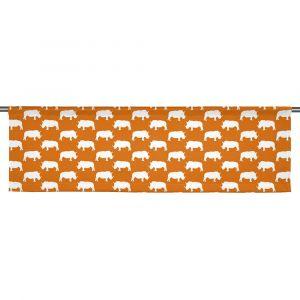 Noshörning Orange Slät gardinkappa