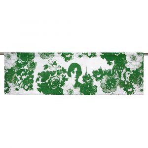 Mademoiselle Grön Slät gardinkappa