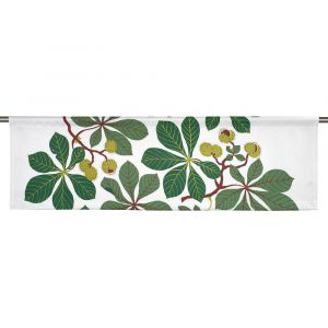 Kastanj Grön Slät gardinkappa