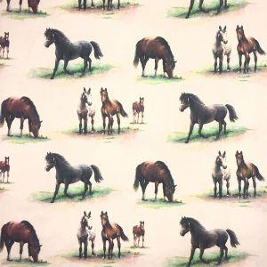Hästvänner Veckad gardinkappa