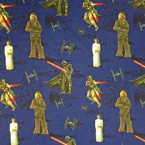 Star Wars Force Blå Veckad gardinkappa