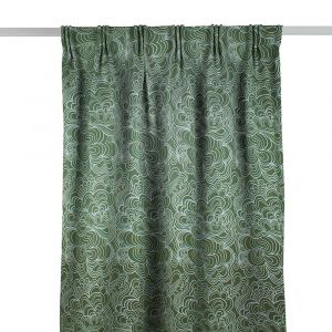 Blomma Grön Gardinlängd