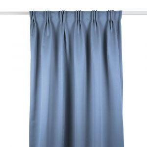 Siv Ljusblå Mörkläggande Gardinlängd