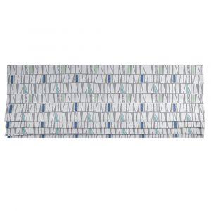 Mosaik Blå Hissgardin