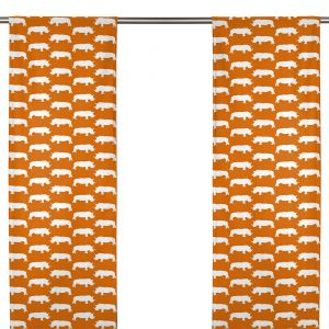 Noshörning Orange Panelgardin