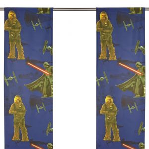 Star Wars Force Blå Panelgardin