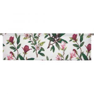 Magnolias Vinröd Slät gardinkappa