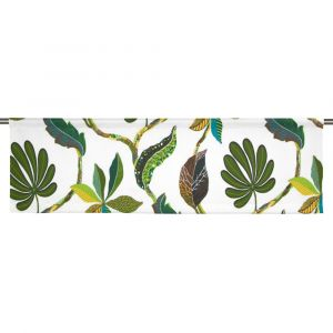 Tahiti Grön/Natur Slät gardinkappa