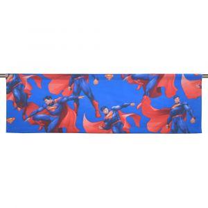 Stålmannen Blå Slät gardinkappa