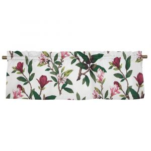 Magnolias Vinröd Veckad gardinkappa
