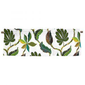 Tahiti Grön/Natur Veckad gardinkappa
