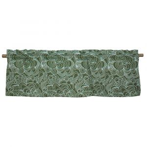Blomma Grön Veckad gardinkappa