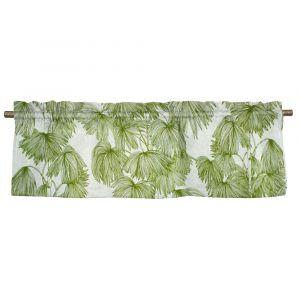 Palma Grön Veckad gardinkappa