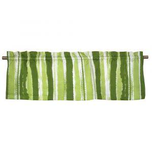 Sinna Grön Veckad gardinkappa