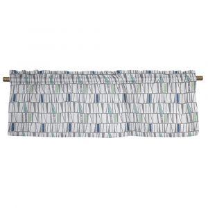 Mosaik Blå Veckad gardinkappa
