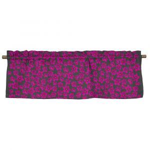 Anemone Mini Cerise/Mörkgrå Veckad gardinkappa