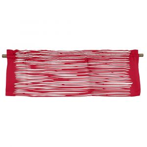 Mareld Röd Veckad gardinkappa