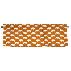 Noshörning Orange Veckad gardinkappa