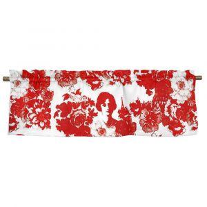 Mademoiselle Röd Veckad gardinkappa