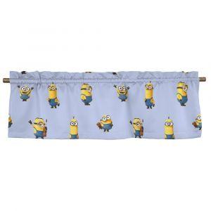 Minioner Ljusblå Veckad gardinkappa