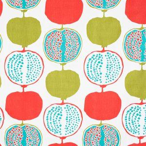 Pomegranate Big Turkos Tyg