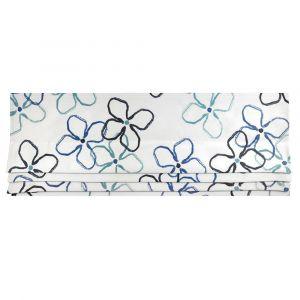 Flower Kronblå Hissgardin
