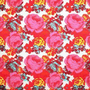 Baronessa Röd/Rosa Tyg Veckad gardinkappa