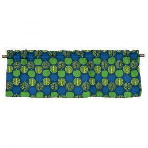 Pomegranate Small Blå/Grön Veckad gardinkappa