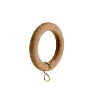Rund Ring Med Ögla Basic 28 mm Trä
