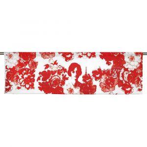 Mademoiselle Röd Slät gardinkappa