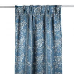 Batik Florette Chambray Blue Gardinlängd