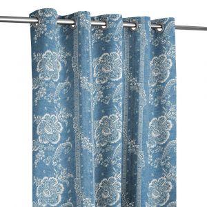 Batik Florette Chambray Blue Öljettlängd