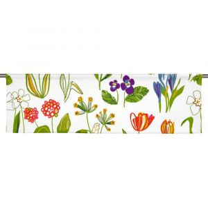 Floral Vit Slät gardinkappa