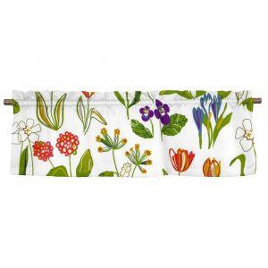 Floral Vit Veckad gardinkappa